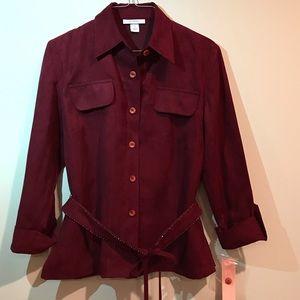 Burgundy Dressbarn Jacket - NWT!